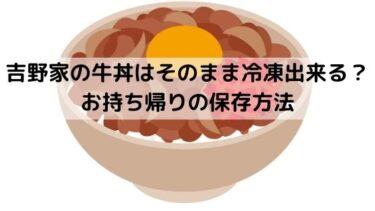 吉野家の牛丼はそのまま冷凍出来る?お持ち帰りの保存方法