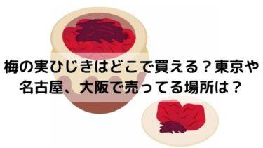 梅の実ひじきはどこで買える?東京や名古屋、大阪で売ってる場所は?