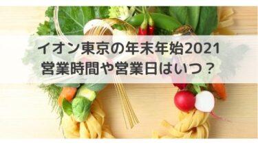 イオンモール東京の年末年始2020-2021の営業時間や営業日は?休業もある?