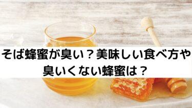 そば蜂蜜が臭い?美味しい食べ方や臭いくない蜂蜜は?