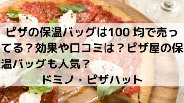 ピザの保温バッグは100 均で売ってる?効果や口コミは?ピザ屋の保温バッグも人気?ドミノ・ピザハット