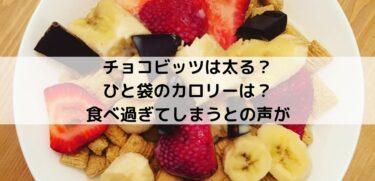 チョコビッツは太る?ひと袋のカロリーは?食べ過ぎてしまうとの声が