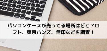 パソコンケースが売ってる場所はどこ?ロフト、東京ハンズ、無印などを調査!
