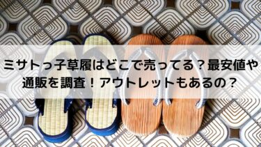 ミサトっ子草履はどこで売ってる?最安値や通販を調査!アウトレットもあるの?